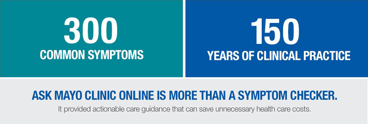Ask Mayo Clinic Online is more than a symptom checker